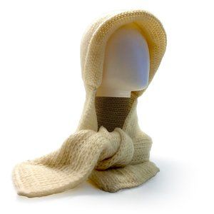 ARIS Ivory Knit Hooded Scarf
